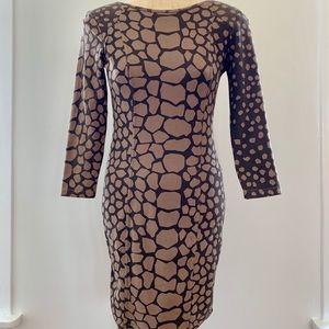 Aritzia Wilfred Elise Giraffe-Print Dress
